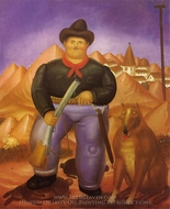 The Hunter painting reproduction, Fernando Botero