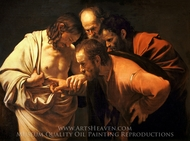 The Incredulity of Saint Thomas painting reproduction, Caravaggio