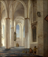 The Interior of the Buurkerk at Utrecht painting reproduction, Pieter Jansz Saenredam