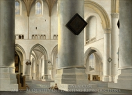 The Interior of the Grote Kerk at Haarlem painting reproduction, Pieter Jansz Saenredam