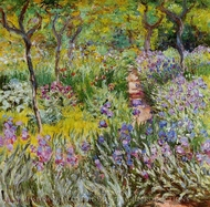 The Iris Garden at Giverny painting reproduction, Claude Monet