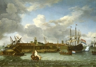 The Island of Onrust painting reproduction, Ludolf Backhuysen