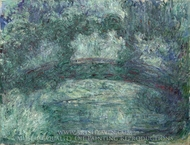 The Japanese Bridge painting reproduction, Claude Monet