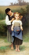 The Jewel of the Fields (Parure des Champs) painting reproduction, William Adolphe Bouguereau