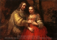 The Jewish Bride painting reproduction, Rembrandt Van Rijn