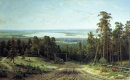 The Kama River Near Elabuga painting reproduction, Ivan Shishkin