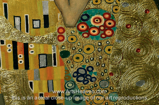 Gustav Klimt The Kiss The Kiss Painting Reproduction