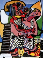 The Kiss painting reproduction, Pablo Picasso (inspired by)