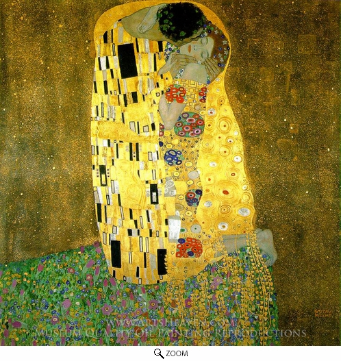 Gustav Klimt, The Kiss oil painting reproduction