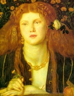 The Kissed Mouth (Bocca Baciata) painting reproduction, Dante Gabriel Rossetti