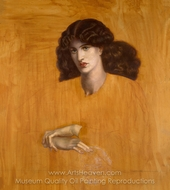The Lady of Pity painting reproduction, Dante Gabriel Rossetti