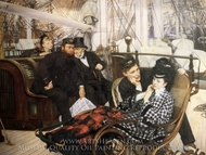 The Last Evening painting reproduction, James Tissot