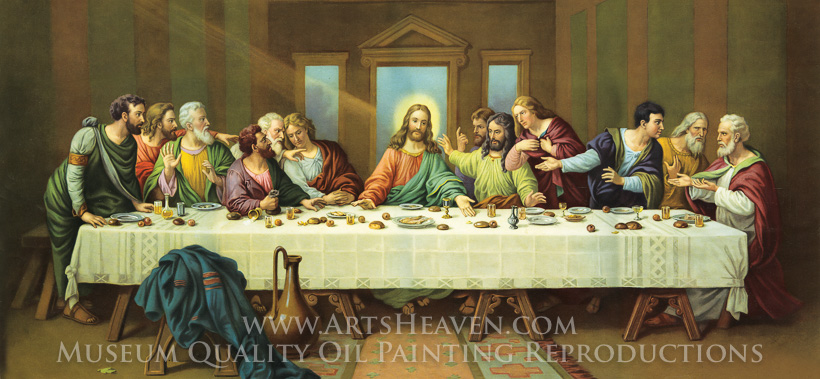 Da Vinci The Last Supper Painting | Reproduction of The Last Supper ...