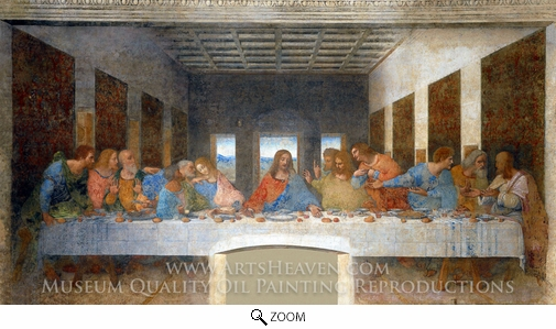 Leonardo Da Vinci, The Last Supper oil painting reproduction