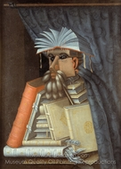 The Librarian painting reproduction, Giuseppe Arcimboldo