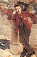 The London Bootblack painting reproduction, Jules Bastien-Lepage