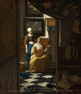 The Love Letter painting reproduction, Jan Vermeer
