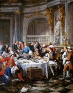 The Lunch of Oysters painting reproduction, Jean Francois De Troy