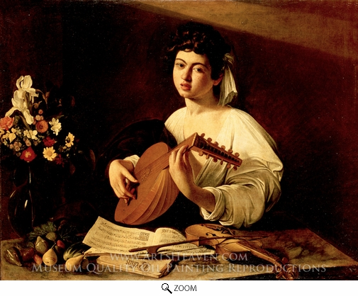 Caravaggio, The Lute Player oil painting reproduction