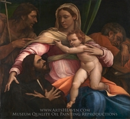 The Madonna and Child with Saints and a Donor painting reproduction, Sebastiano Del Piombo