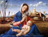 The Madonna of the Meadow painting reproduction, Giovanni Bellini