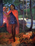 The Magician of Hivaoa painting reproduction, Paul Gauguin