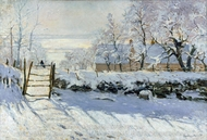 The Magpie painting reproduction, Claude Monet