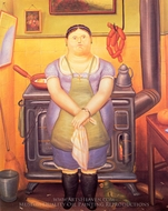 The Maid painting reproduction, Fernando Botero