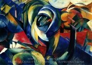 The Mandrill painting reproduction, Franz Marc