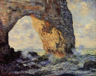 The Manneport, Etretat painting reproduction, Claude Monet