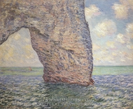 The Manneporte at High Tide painting reproduction, Claude Monet