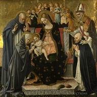 The Marriage of Saint Catherine of Siena painting reproduction, Lorenzo d'Alessandro Da Sanseverino