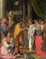 The Marriage of the Virgin painting reproduction, Ludovico Carracci