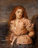 The Martyr of the Solway painting reproduction, John Everett Millais