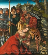 The Martyrdom of Saint Barbara painting reproduction, Lucas Cranach