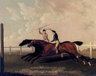 The Match Race at Epsom Between Little Driver and Aaron painting reproduction, Charles Towne