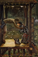 The Merciful Knight painting reproduction, Edward Burne-Jones