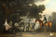 The Milbanke and Melbourne Families painting reproduction, George Stubbs