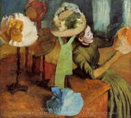The Millinery Shop painting reproduction, Edgar Degas