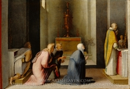 The Miraculous Communion of Saint Catherine of Siena painting reproduction, Domenico Beccafumi
