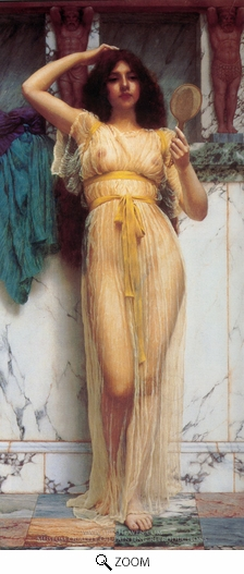 John William Godward, The Mirror oil painting reproduction