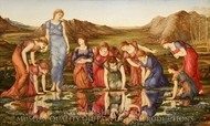 The Mirror of Venus painting reproduction, Edward Burne-Jones