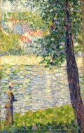 The Morning Walk painting reproduction, Georges Seurat