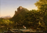 The Mountain Ford painting reproduction, Thomas Cole