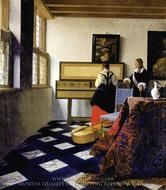 The Music Lesson painting reproduction, Jan Vermeer