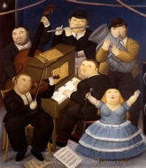 The Musicians painting reproduction, Fernando Botero