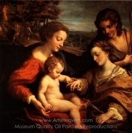 The Mystic Marriage of Saint Catherine painting reproduction, Correggio