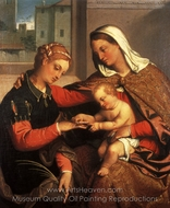 The Mystic Marriage of St. Catherine painting reproduction, Giovanni Battista Moroni