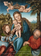 The Mystical Marriage of Saint Catherine painting reproduction, Lucas Cranach