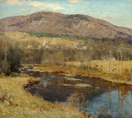 The North Country painting reproduction, Willard Leroy Metcalf